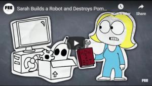 Sarah Builds a Robot and Destroys Pompous Colleges