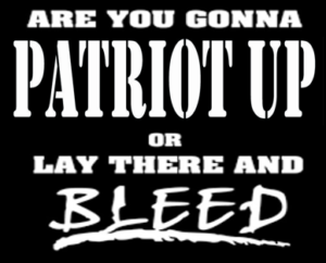 It's Not about Political Parties, It's about the Constitution!  We Must 'Patriot Up'.