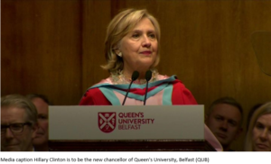 Hillary Clinton appointed chancellor of Queen's University, Belfast