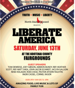 LIBERATE AMERICA Event in North Idaho JOIN US