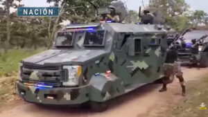 Mexican cartel engages in shocking show of force involving military-clad, armed personnel driving convoy of up-armored vehicles