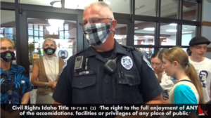 NO MASK Protest: Tyranny lives at the Sandpoint Library - 1st Amendment Audit