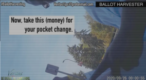 "CAUGHT IN THE ACT: BALLOT HARVESTER ON CAMERA EXCHANGING CASH FOR GENERAL ELECTION BALLOT…""SHE'S [ILHAN OMAR] THE ONE WHO CAME UP WITH ALL THIS … WE ARE TAKING THE MONEY AND WE'LL VOTE FOR YOU … WE DON'T CARE ILLEGAL."""