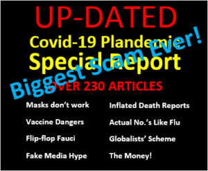 INWR SPECIAL REPORT – Covid-19PLANDEMIC (Socialists'/Globalists' Scheme for Control), FAL$E MEDICAL REPORT$, the $$$$$, MASK FACTS and VACCINE DANGERS!