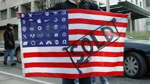 THE POLITICAL FUSION OF LARGE CORPORATIONS AND GOVERNMENT IS A THREAT TO OUR COUNTRY